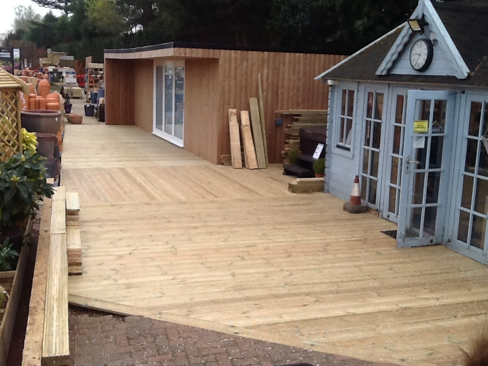 Decking - This Decking was laid for a large garden centre, both hardwearing and attractive the client was very happy