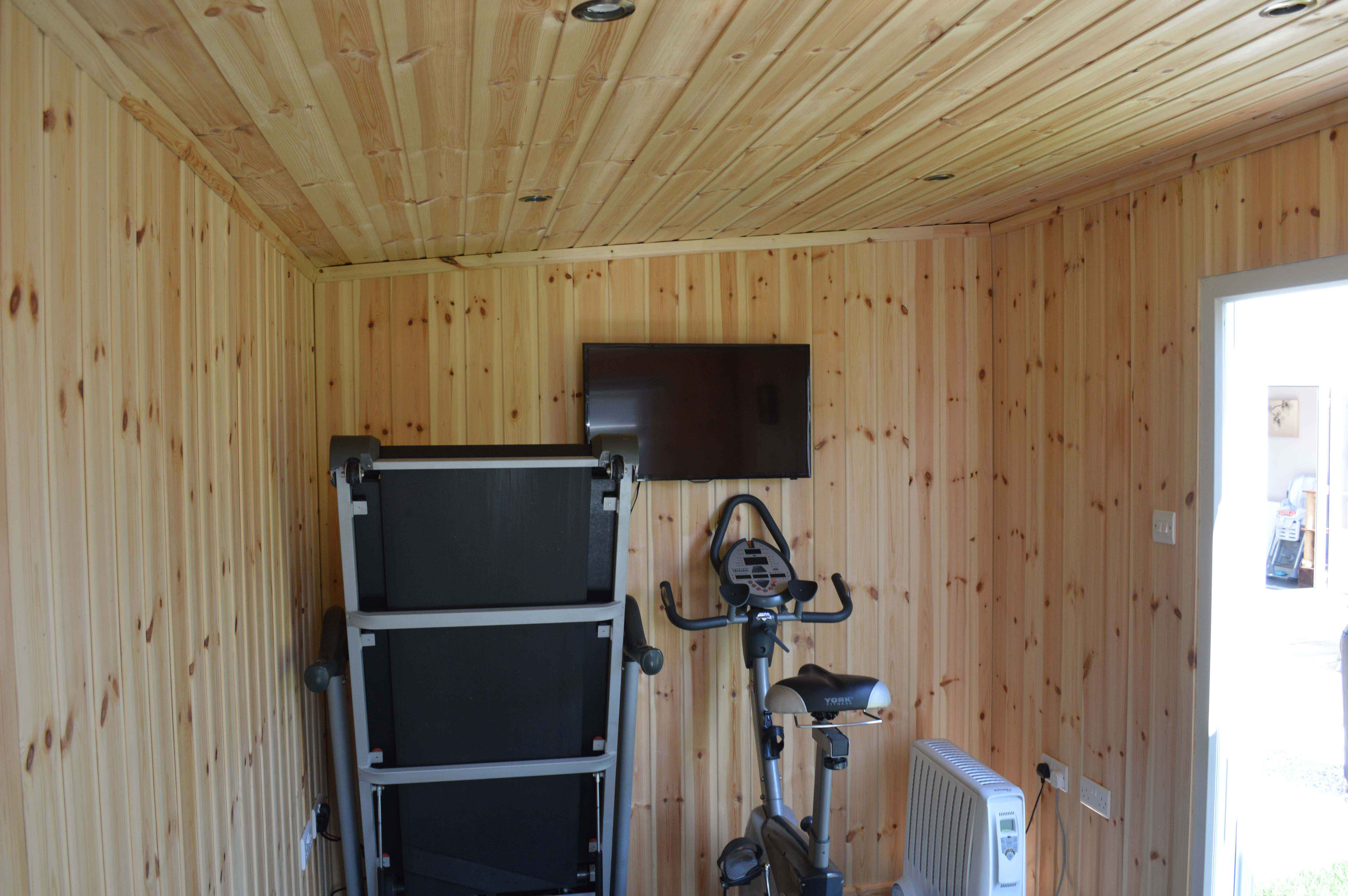 Office / Gym - This custom built studio was perfect to house the clients office and small gym
